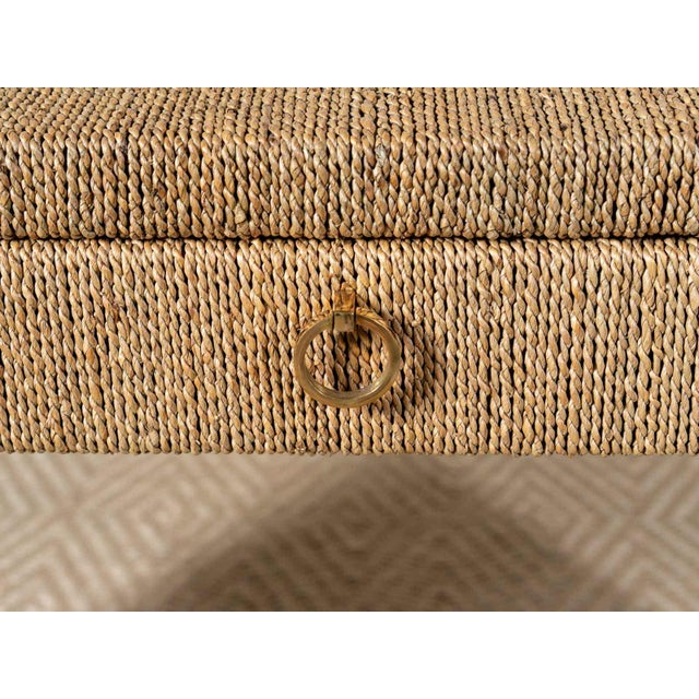 2010s Traditional Woven Rope Side Table For Sale - Image 5 of 6