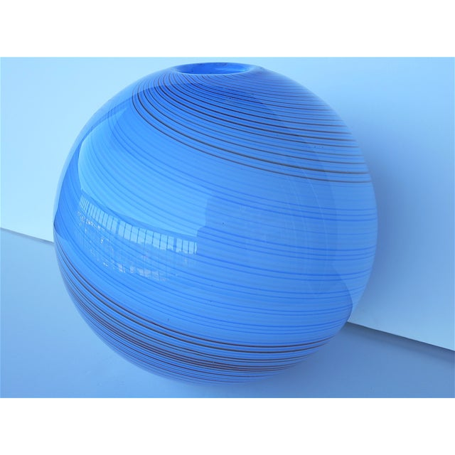 Vintage Hand Blown Globe Vase - Image 6 of 9