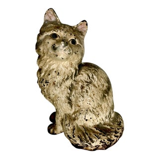 Antique Original Hubley Cast Iron Cat Doorstop
