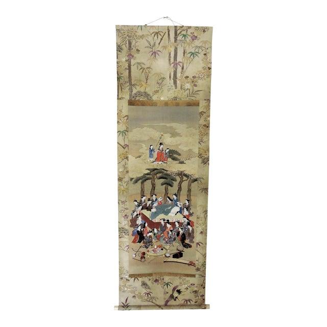 Antique 19th C. Japanese Scroll Painting - Edo Period Kakejiku For Sale