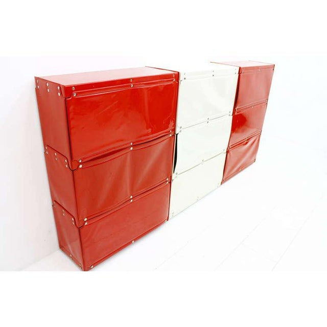 Red Softline Wall System, Shelf, Bookshelf by Otto Zapf, Germany 1971, Red / White For Sale - Image 8 of 10