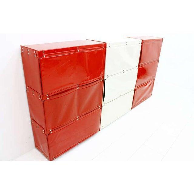 White Softline Wall System, Shelf, Bookshelf by Otto Zapf, Germany 1971, Red / White For Sale - Image 8 of 10