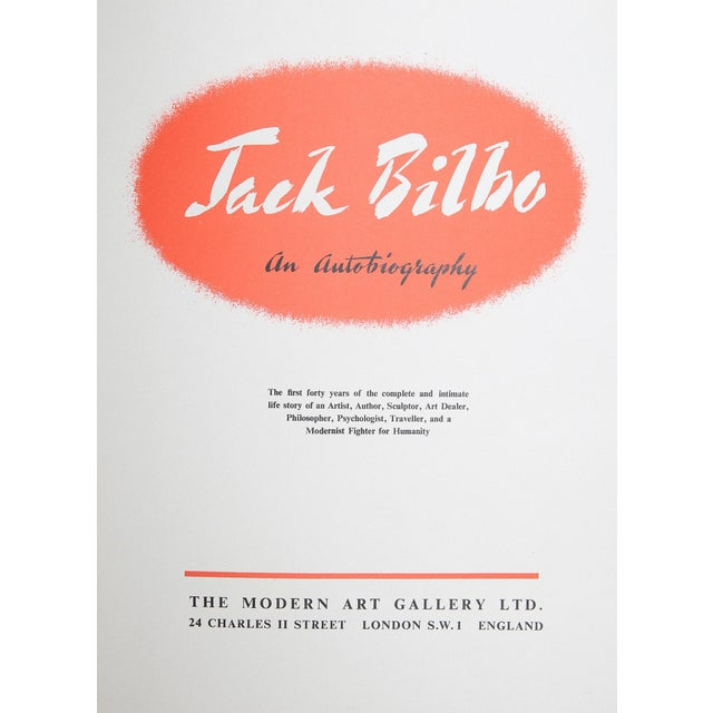 Jack Bilbo An Autobiography by Jack Bilbo. London: The Modern Art Gallery Ltd., 1948. First Edition. 468 pages. Hardcover....