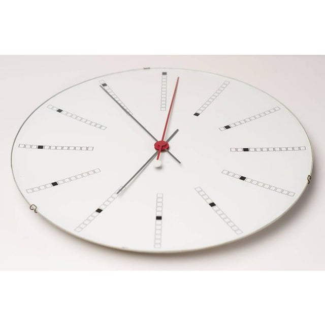 Aluminum Extra Large Bankers Wall Clock by Arne Jacobsen for Gefa, 1971 For Sale - Image 7 of 7