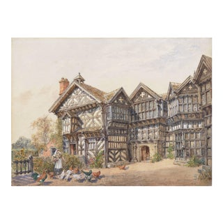 'Little Moreton Hall, Cheshire, England' by Edward Salomons, 1900; Tudor Architecture, Royal Academy, National Gallery For Sale