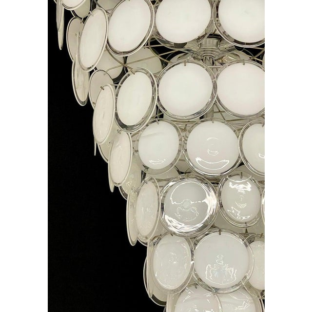 Pair of Mid-Century Modern Style Murano Glass Chandelier For Sale In New York - Image 6 of 10