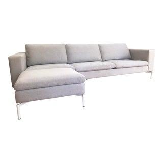 Modern Blu Dot New Standard Sofa & Ottoman For Sale