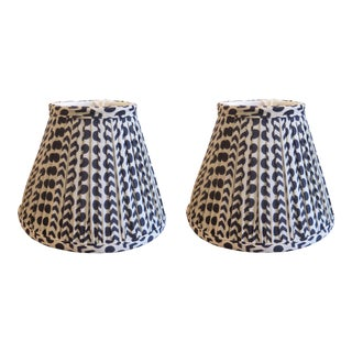 """10"""" Gathered Custom Empire Lampshades - a Pair For Sale"""