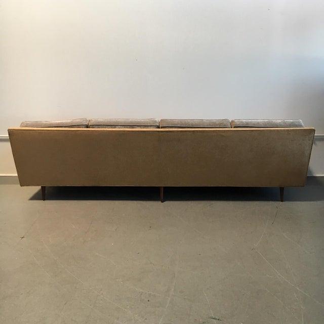 Champagne-Tone Mid-Century Modern Sofa - Image 7 of 7