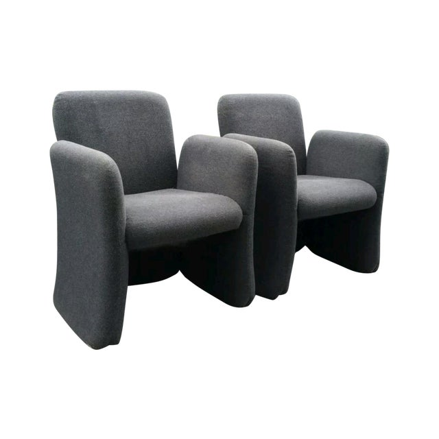 Mid-Century Bellini Style Chicklet Chairs - Pair - Image 1 of 7
