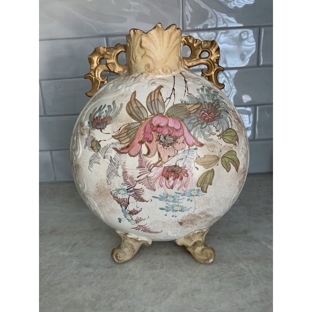 Antique 1860 Samuel Moore & Co. Chinoiserie Moon Vase For Sale - Image 9 of 9