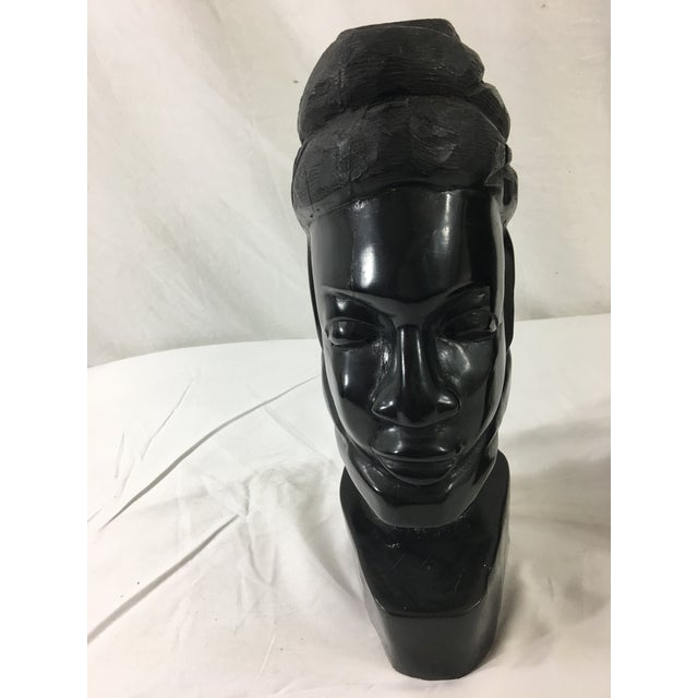 1950s Carved Gabonese Ebonized Wood Figures - a Pair For Sale - Image 5 of 7