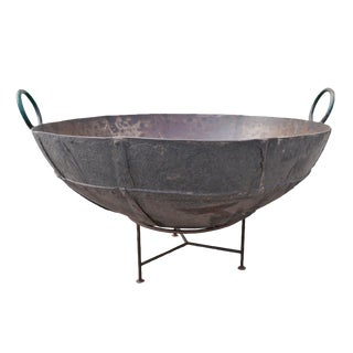 "Large Iron Kadai Fire Bowl 48"" For Sale"