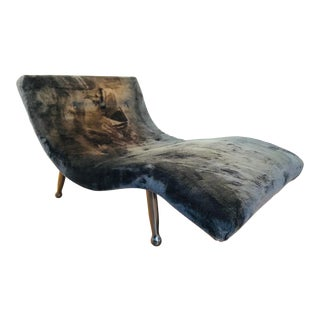 Mid Century Adrian Pearsall Style Chaise Lounge For Sale