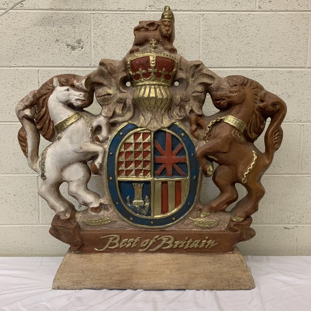 Large Scale British Coat of Arms Sculpture For Sale - Image 13 of 13
