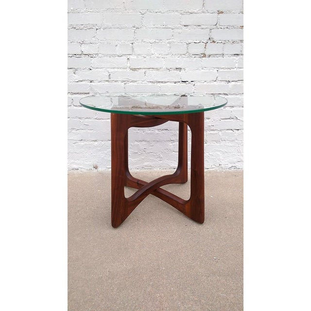 Adrian Pearsall Round Walnut Side Table - Image 2 of 5
