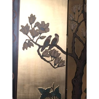 Mid Century Chinese Chinoiserie Coromandel 4 Panel Folding Screen Preview