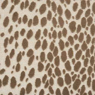 Schumacher Cheetah Velvet Fabric in Natural For Sale
