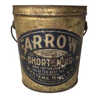 San Francisco Arrow Shortening Bucket