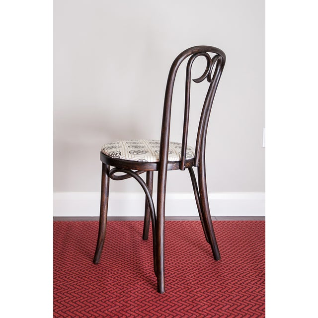 Early 20th Century Candy Cane Bentwood Cafe Chair For Sale - Image 4 of 5