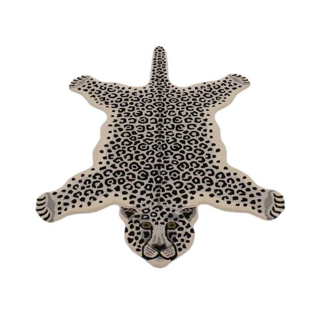 Contemporary Decorate Wild Animal Design Handcuffed Area Rug 3 5