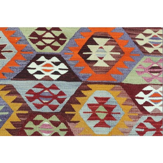 1960s Vintage Tavas Nomad's Flat Weave Rug For Sale - Image 10 of 12