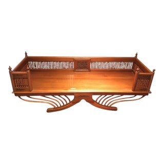 20th Century Asian Thai Howdah Hand Carved Teak Daybed For Sale