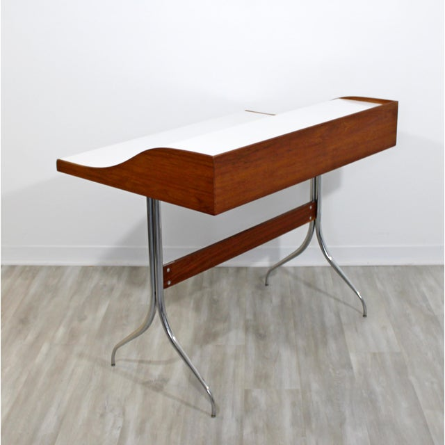 Wood Mid-Century Modern Early Production George Nelson Herman Miller Swag Leg Desk For Sale - Image 7 of 13