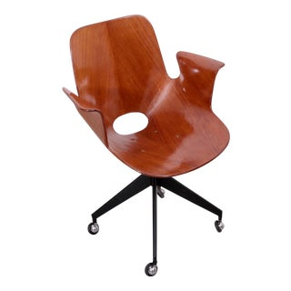 Rare Medea Office Chair with Roles by Vittorio Nobili