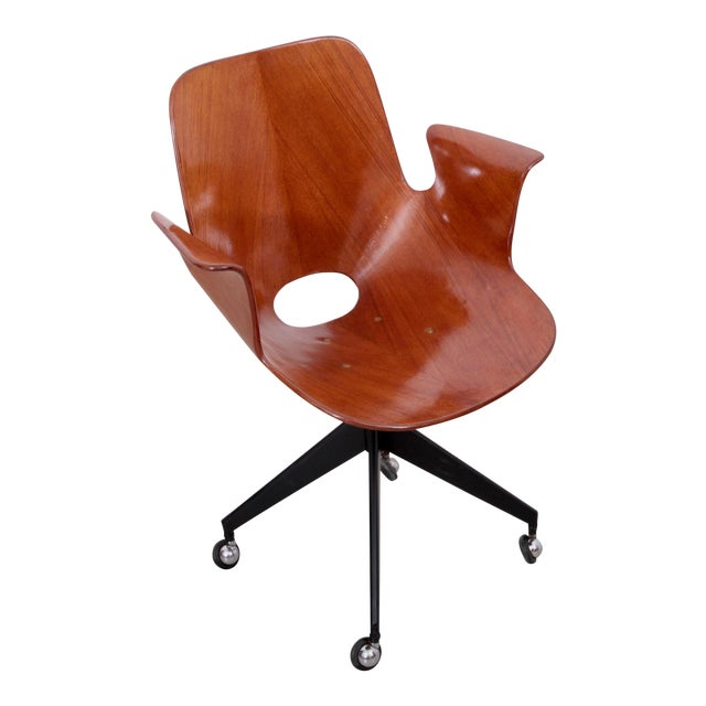 Rare Medea Office Chair with Roles by Vittorio Nobili For Sale