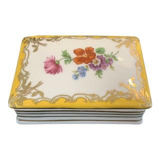 Vintage French Porcelain Book Trinket Box For Sale