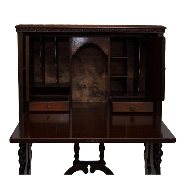 "Early 20th Century ""Vargueno"" Secretary Desk - Image 7 of 10"