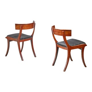 Pair of Mahogany Klismos Chairs, Denmark For Sale