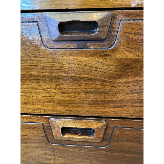 Mid-Century Modern Danish Bookcase With Secretary Desk For Sale In Los Angeles - Image 6 of 11