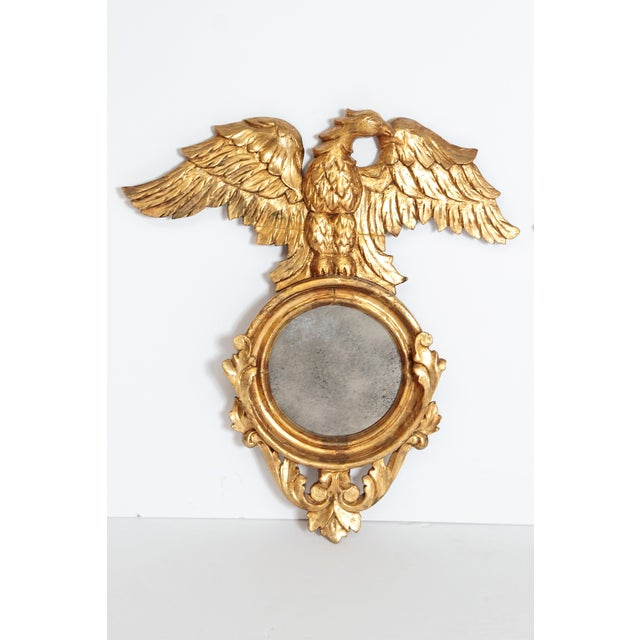 Americana Pair of Giltwood Mirrors With Eagles, Wings Outstretched For Sale - Image 3 of 13