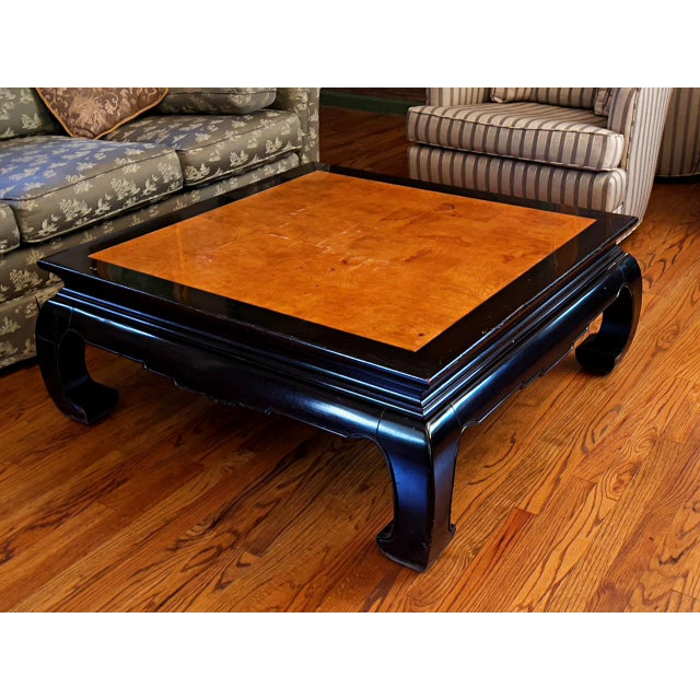 Ethan Allen Ming Dynasty Style Square Cocktail Table For Sale - Image 9 of 9
