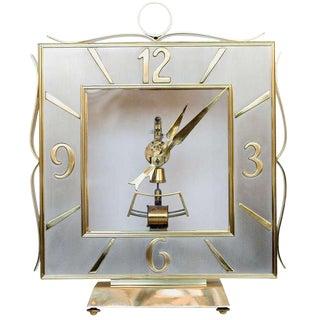 Kieninger & Obergfell Brass Mantel Clock For Sale