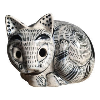 Mid Century Italian Ceramic Cat for Tiffany For Sale