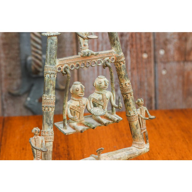 1950s Tribal Bastar Figurines on Swing For Sale - Image 5 of 11