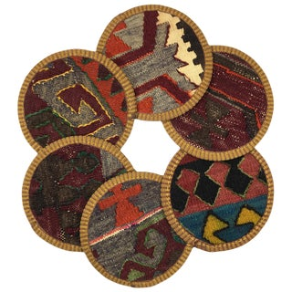 Kilim Coasters Set of 6 | Hacıhasan For Sale