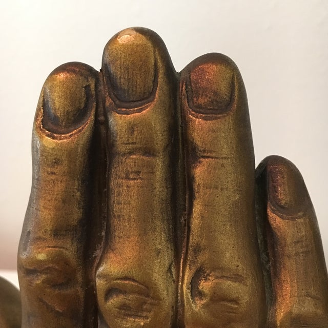 Mid-Century Roman Art Co. Robia Porcelain Hands - A Pair For Sale - Image 11 of 11