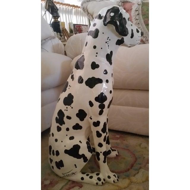 Vintage Dalmatian Dog Full Size Porcelain Statue - Image 3 of 7