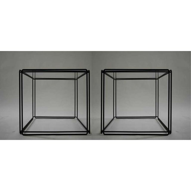 Glass Pair of Minimalist Tables by Max Sauze For Sale - Image 7 of 7