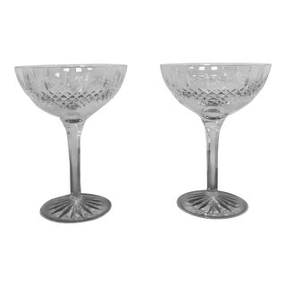 Waterford Crystal Champagne Glasses- A Pair For Sale