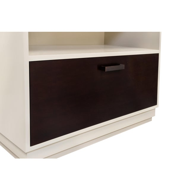 Wood Minimalistic Gray Maple Filing Cabinet For Sale - Image 7 of 7