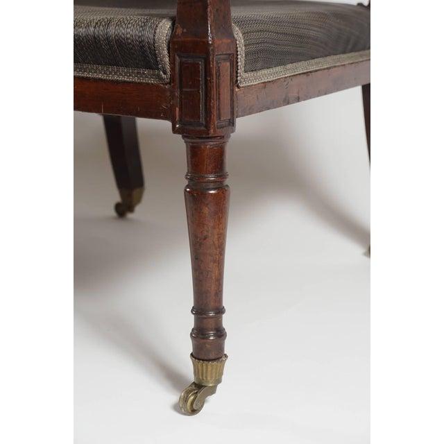 Metal Mahogany Settee, England, Circa 1795 For Sale - Image 7 of 10