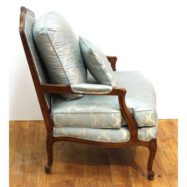 French Louis XV Provincial Style Bergere Chairs For Sale In New York - Image 6 of 11
