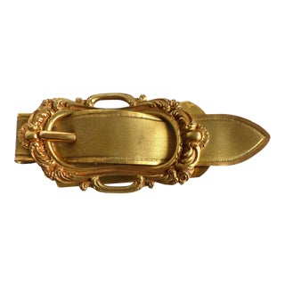 Italian Gilt Metal Letter Holder