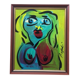 Peter Keil Abstract Painting, Framed For Sale