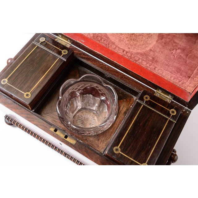 Gold Regency tea caddy For Sale - Image 8 of 11